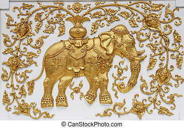 Elephant in Thai architecture