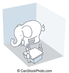 Elephant In The Room - An image of an elephant in the room...