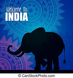 elephant india country design