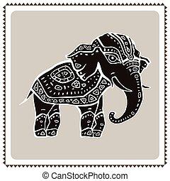 Elephant. Indian style