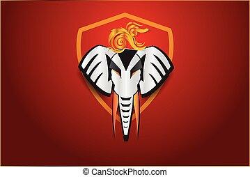elephant logo design,vector