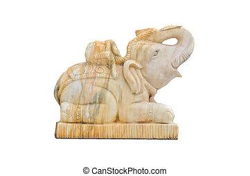 Elephant marble isolated