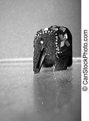Elephant On Rain