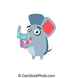 Elephant Party Animal Icon