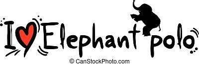 Elephant polo love