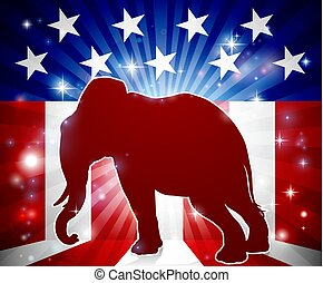 Elephant Republican Political Mascot