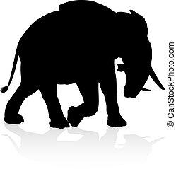 Elephant Safari Animal Silhouette