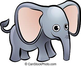 Elephant Safari Animals Cartoon Character