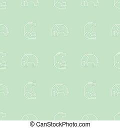 Elephant seamless pattern - Simple seamless pattern. Vector...