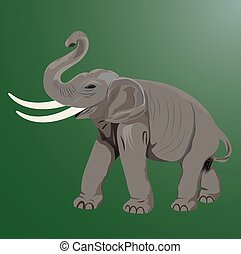elephant shape vector design