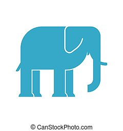 Elephant sign icon. big animal symbol. Cartoon vector