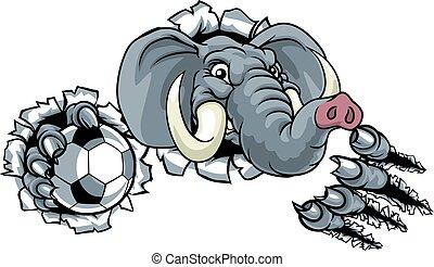 Elephant Soccer Football Ball Sports Animal Mascot