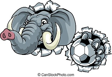 Elephant Soccer Football Ball Sports Mascot