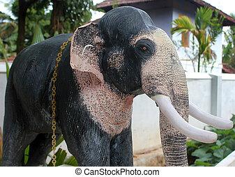 Elephant statue ,Hindu Ganesha God statue.