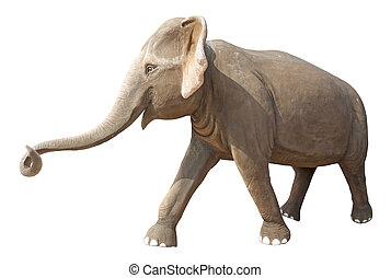 Elephant statue isolated on white