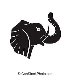 elephant Strong head mascot Template Isolated