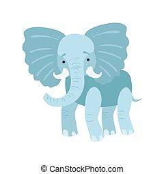 Elephant Stylized Childish Drawing