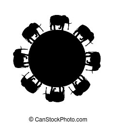 Elephant symbol - vector illustration