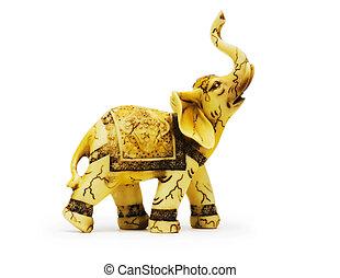 Elephant toy isolated on the white background