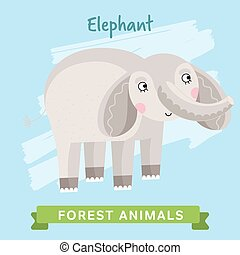 Elephant Vector, forest animals.