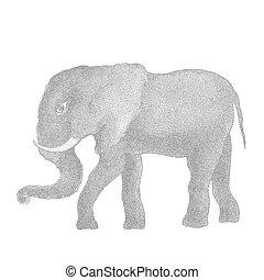 Elephant. Vector illustration