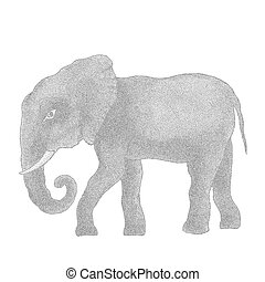 Elephant. Vector illustration