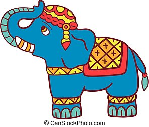 Elephant vector illustration isolated on white.