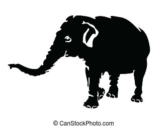 elephant vector silhouette