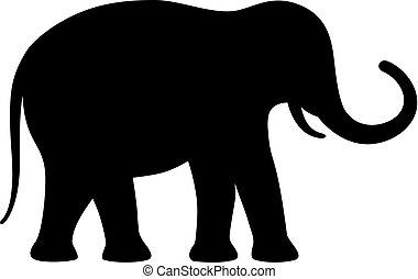 Elephant vector silhouette icon