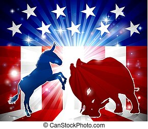 Elephant versus Donkey