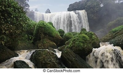 Elephant waterfall. Da Lat, Vietnam - Elephant waterfall,...