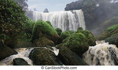 Elephant waterfall. Da Lat, Vietnam - Elephant waterfall,...