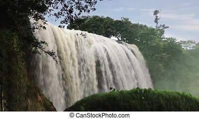 Elephant waterfall in Da Lat, Vietnam - Elephant waterfall,...