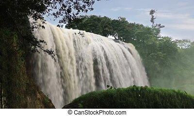Elephant waterfall in Da Lat, Vietnam - Elephant waterfall,...