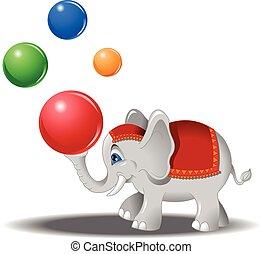 elephant with balls