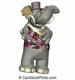 Elephant with clothes