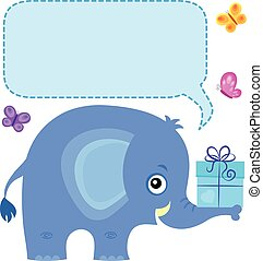 Elephant with copyspace theme 4