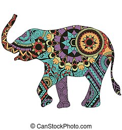 elephant with oriental decor