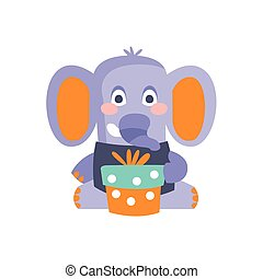Elephant With Party Attributes Girly Stylized Funky Sticker