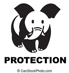 Elephant,panda,logo,mark,brand,wwf