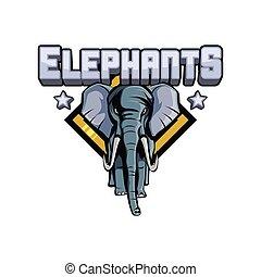 elephants illustration design
