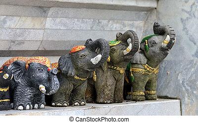 elephants stucco.