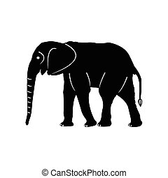 elephants vector silhouettes