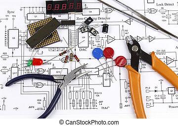eletrônica, componentes