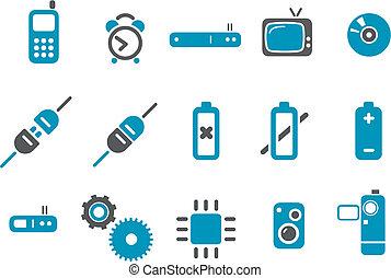 eletrônico, ícone, jogo