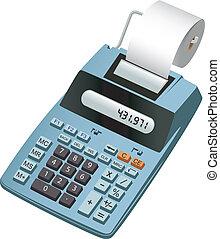 eletrônico, calculadora