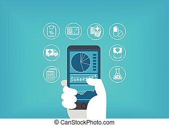 eletrônico, cuidados de saúde, (e-health)