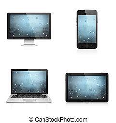 eletrônico, dispositivos