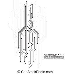eletrônico, vetorial, motherboard.