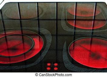 eletric, quemadores, horno